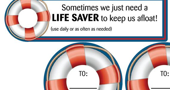 Life saver Candy Treat Label with quote Digital Download Printable
