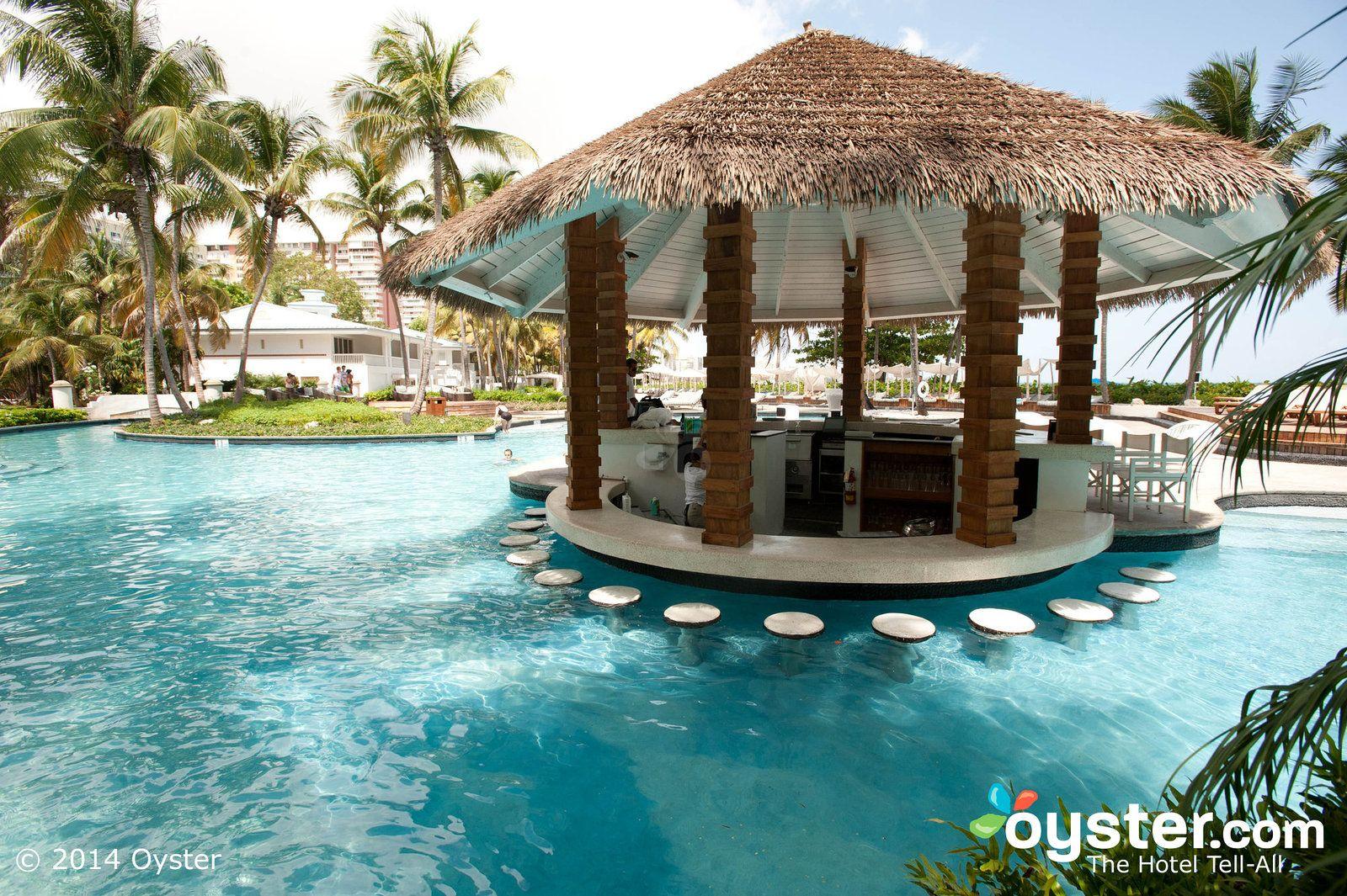 Pool Bar At The El San Juan Hotel And Isla Verde Puerto Rico