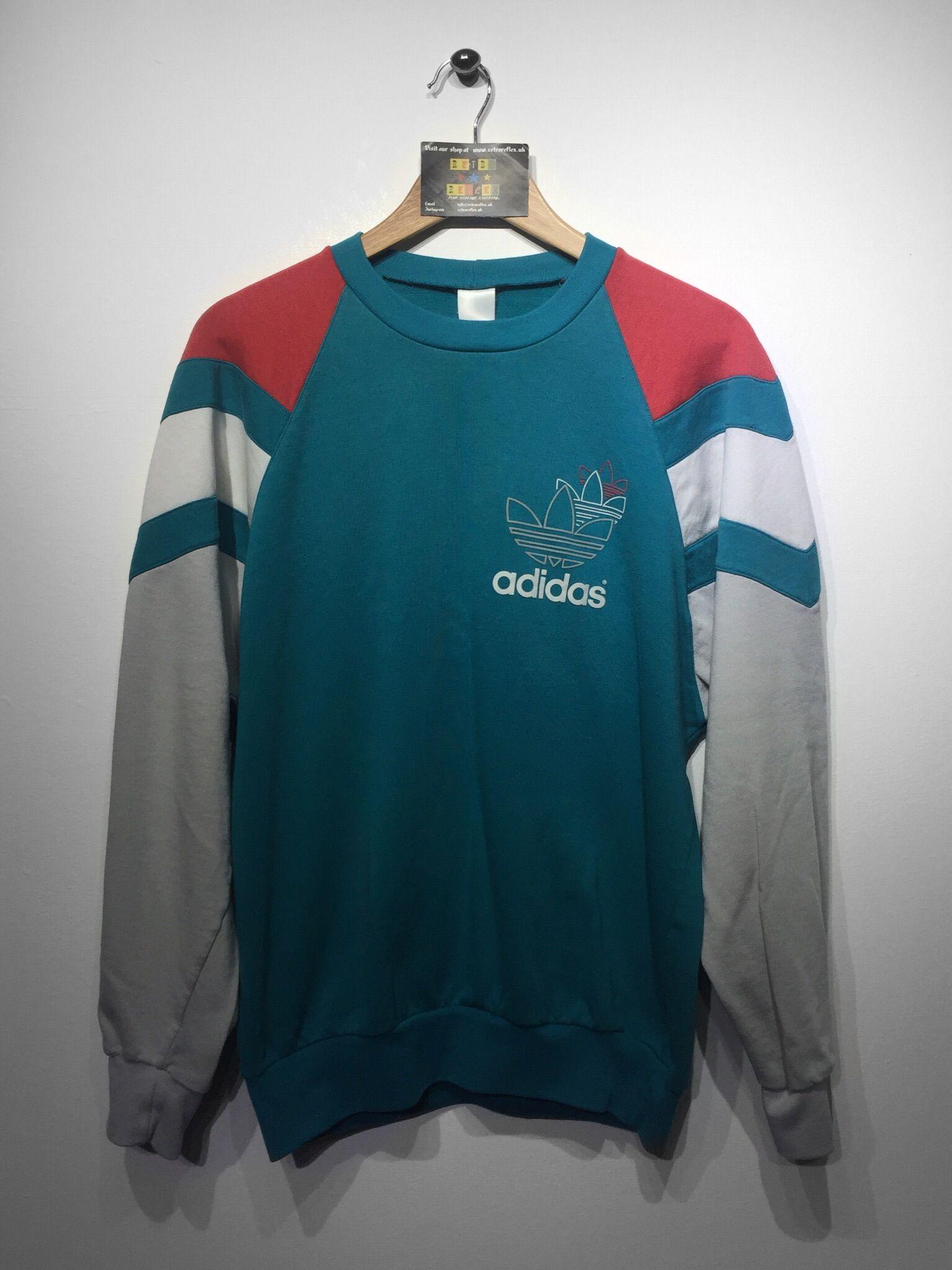 Adidas Sweatshirt Size Large 36 Website Www Retroreflex Uk Adidas Vintage Oldschool Retro Truevintage Adidas Pullover Herren Kleidung Pullover