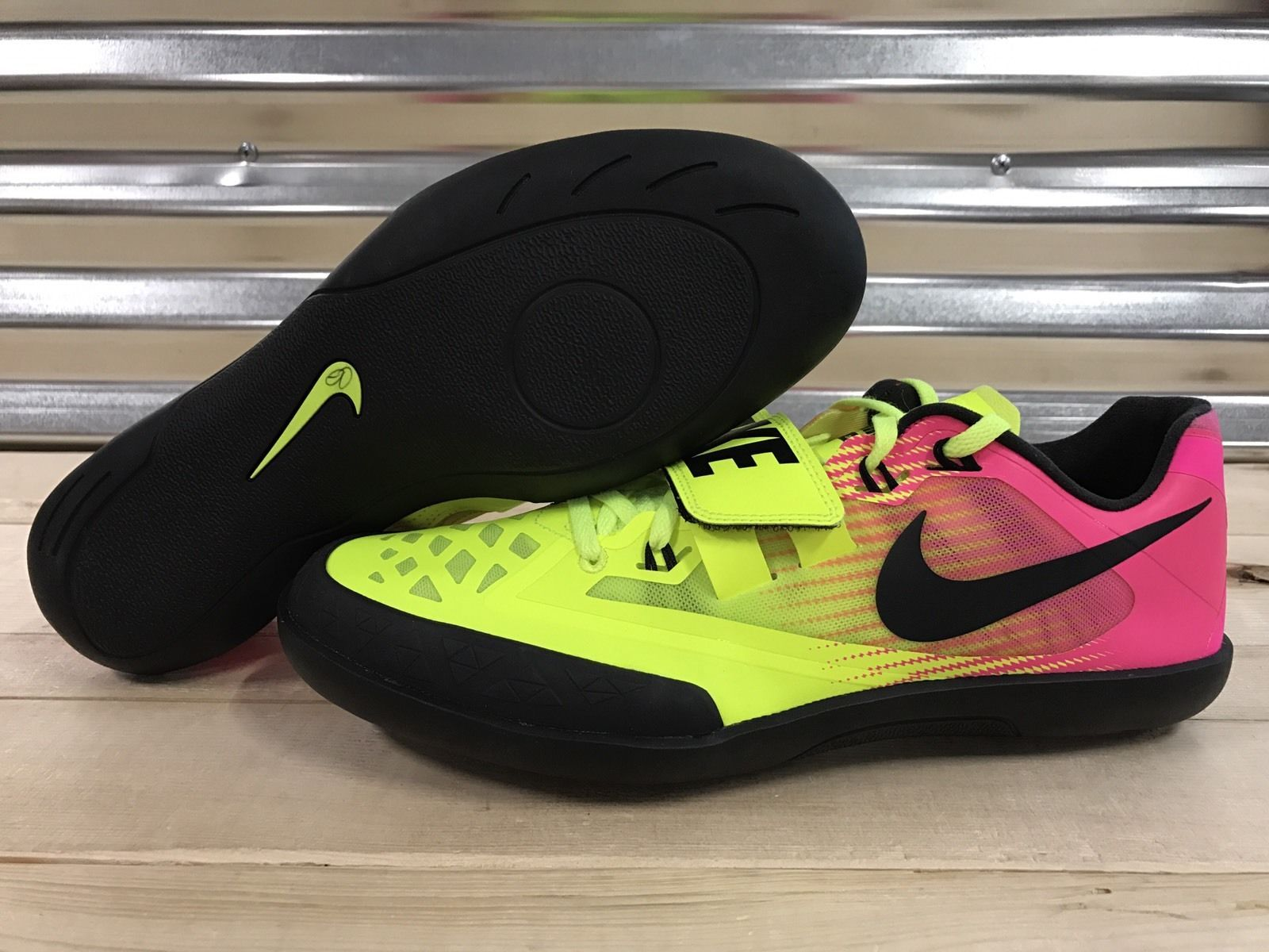 a37226f6111ff8 Nike Zoom SD 4 Throwing Shoes Shotput Discus Track Volt Pink SZ (  685135-999 )