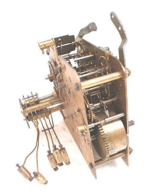 Chiming mantel clock movements