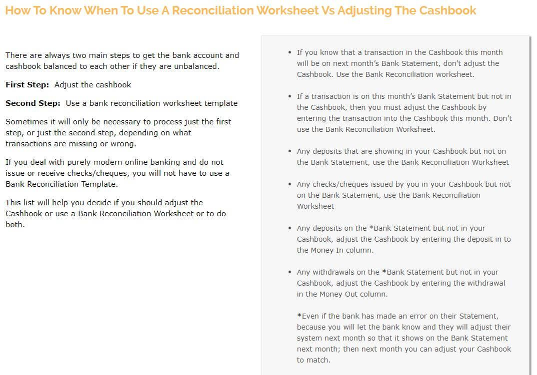 Bank Reconciliation Statements Things Worth Reading