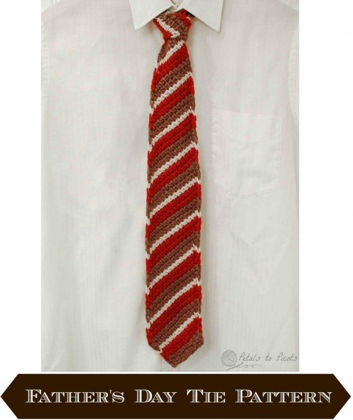 Tunisian Crochet Tie for Dad   Corbatas, Tejido y Cuellos tejidos