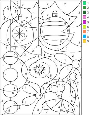 Nicoleu0027s Free Coloring Pages CHRISTMAS * Color by Number - copy coloring pages of 3d shapes