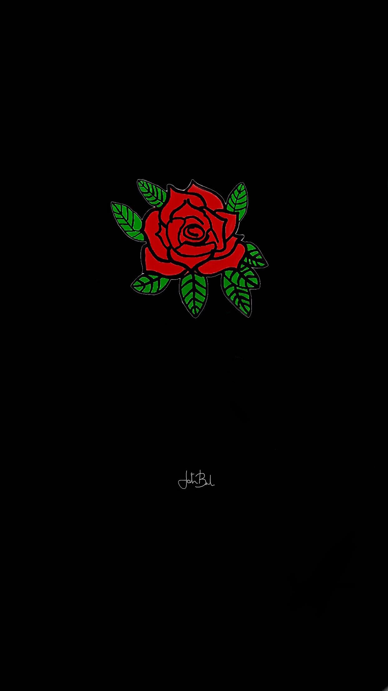 Blackwallpaper Rose Black Red Tumblr Wallpaper