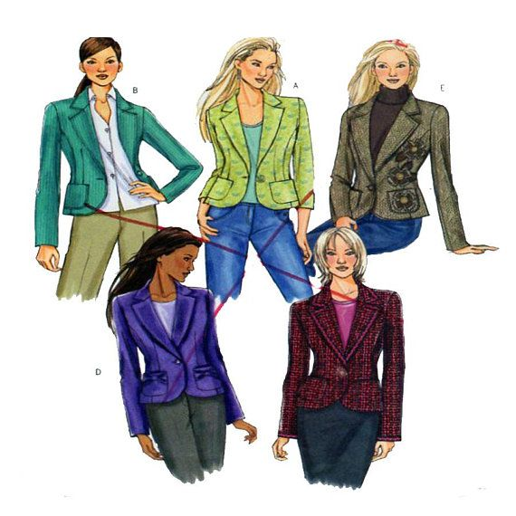 Butterick 4610, Sewing Pattern, Blazer, Single Button Front ...