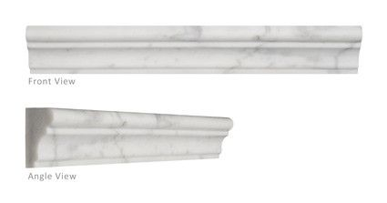 Carrara Honed Marble Tile Chair Rail Molding