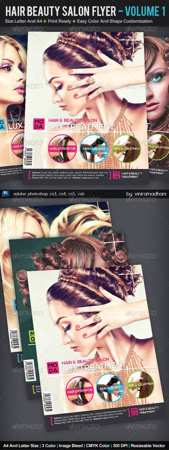 Hair And Beauty Salon Flyer