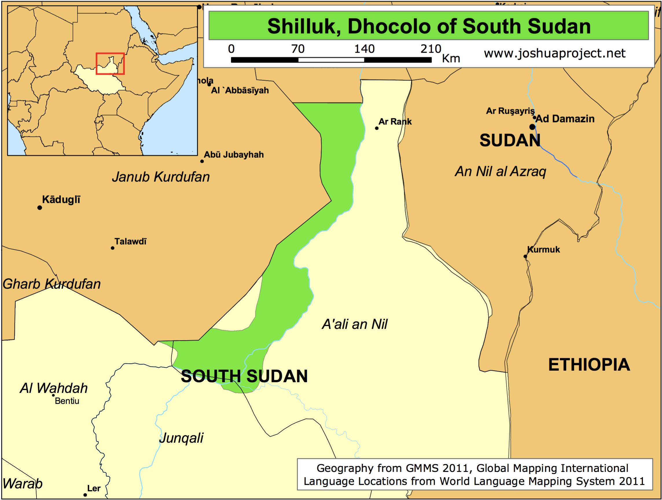 SHILLUK territory, South Sudan.