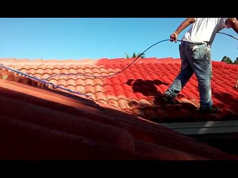 Spray Techniques How Painting Roof Tiles Using An Airless Sprayer Roof Paint Roof Tiles House Painting Services