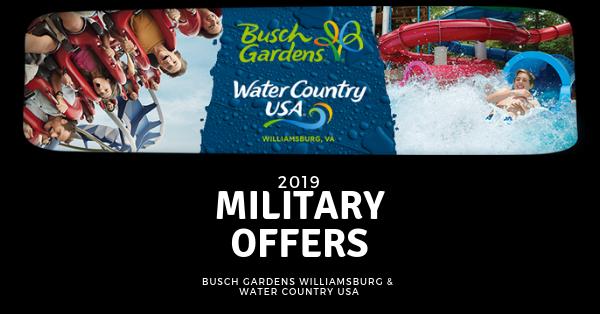 Busch Gardens Williamsburg Veterans Discount 2019