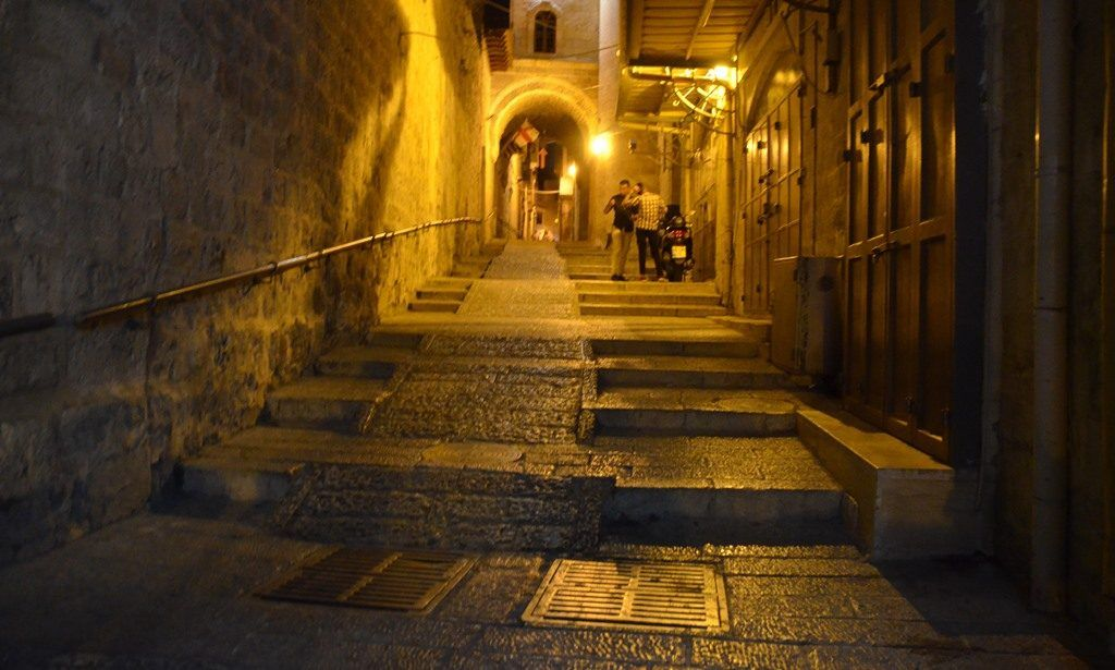 city at night jerusalem light festival