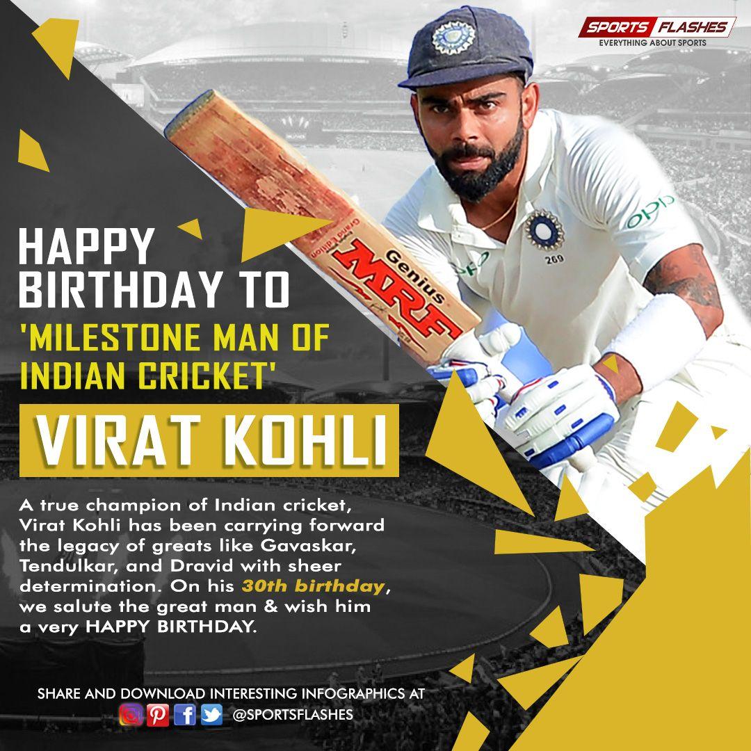 Happy Birthday Virat Kohli. or More Interesting Updates On