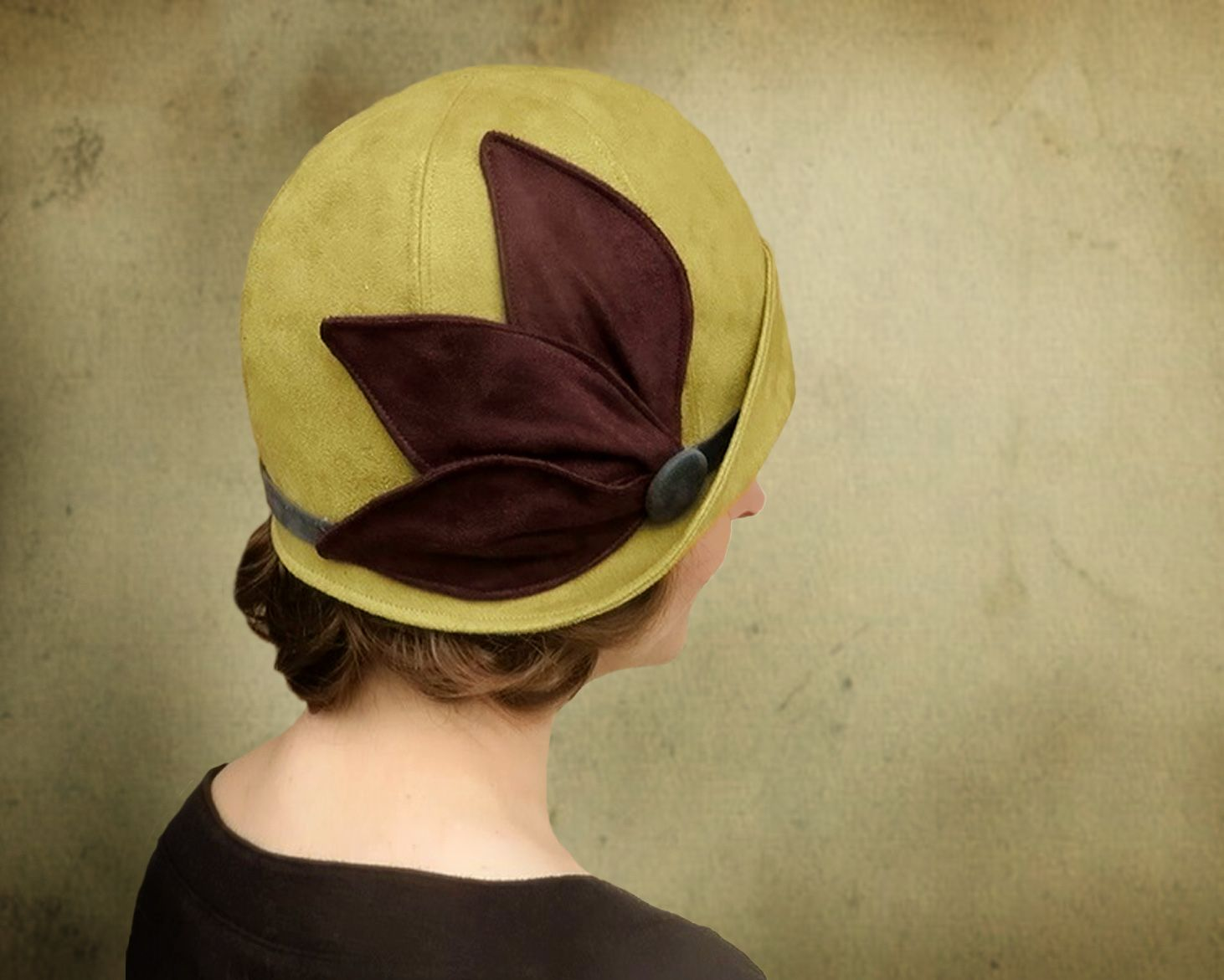 27e933f6a05b40 Classic 1920's cloche with a flipped up brim. Sewing pattern or custom made  hat.
