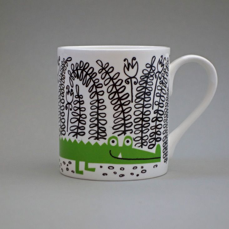 Bone China Mug, Crocodile