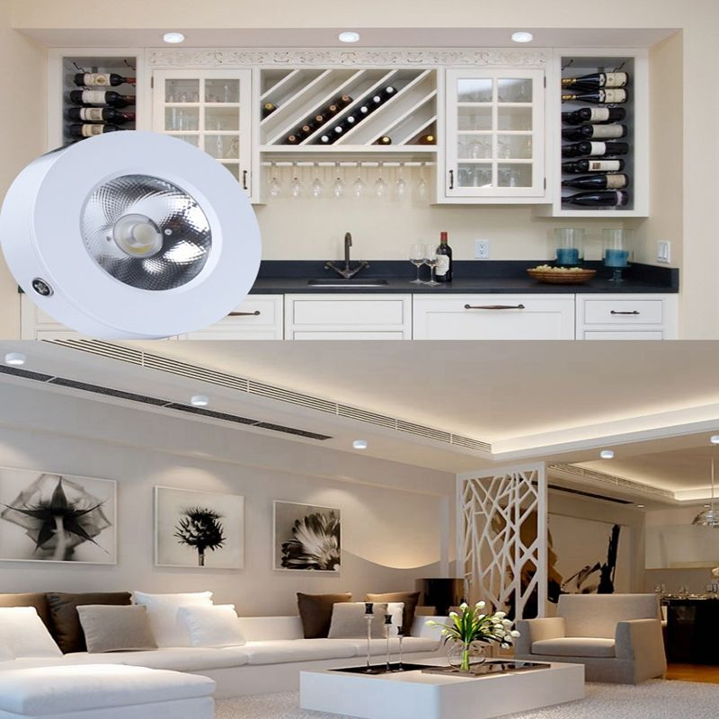 Led Panel Light Ceiling Down Lamp 5w 7w 10w Round Surface Mounted