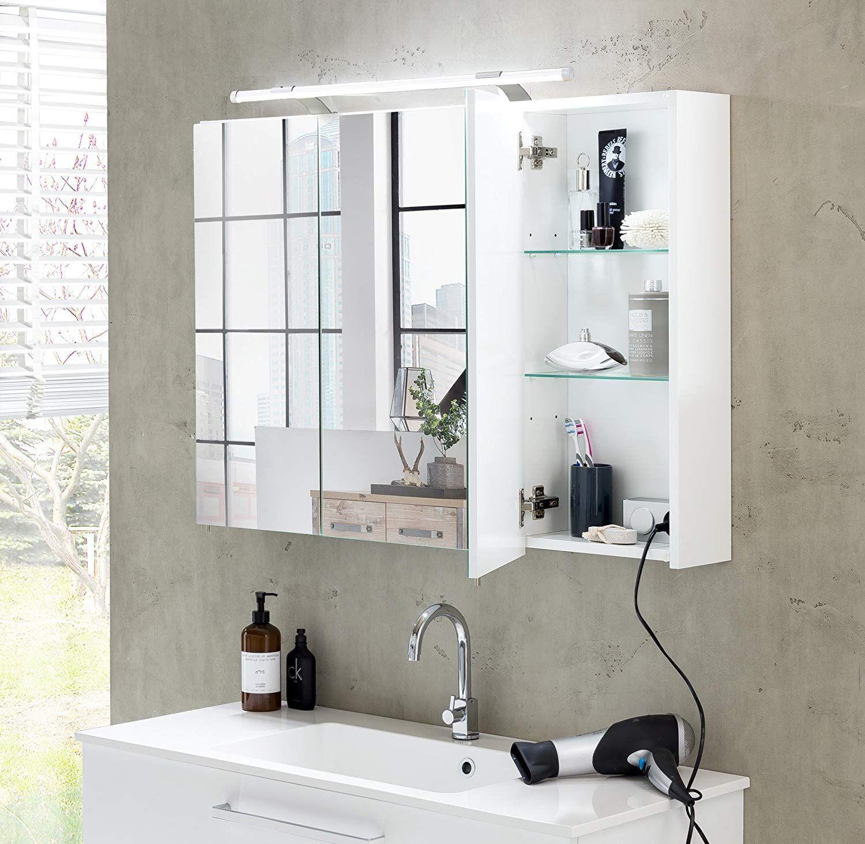 Schildmeyer 125353 Spiegelschrank 80 X 75 X 16 Cm Weiss Glanz Amazon De Amazon De Bathroom Medicine Cabinet Medicine Cabinet Bathroom