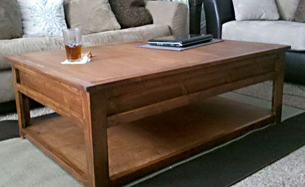 mom's train table - a coffee table that converts to a train table