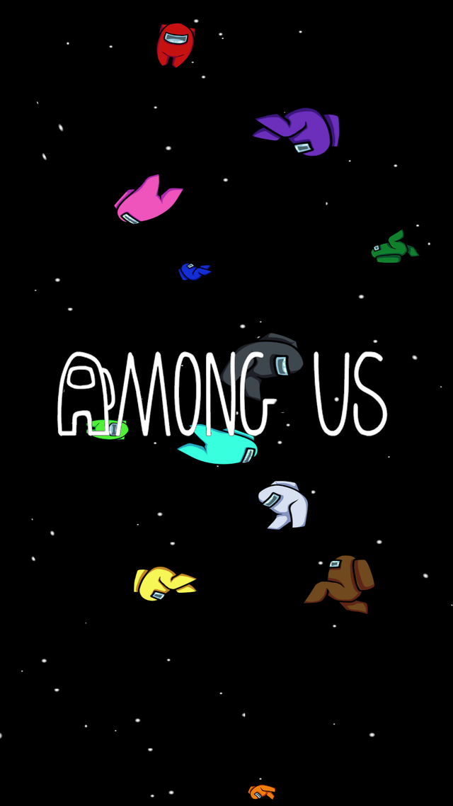 Made a phone wallpaper for Among Us! First time do