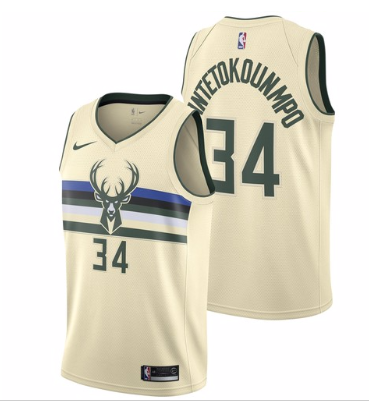 46b3abe4a Nike NBA Milwaukee Bucks  34 Giannis Antetokounmpo Jersey 2017 18 New  Season City Edition Jersey