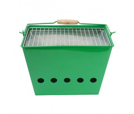 Barbeque Bucket, Green >> Awesome for smores on the beach!