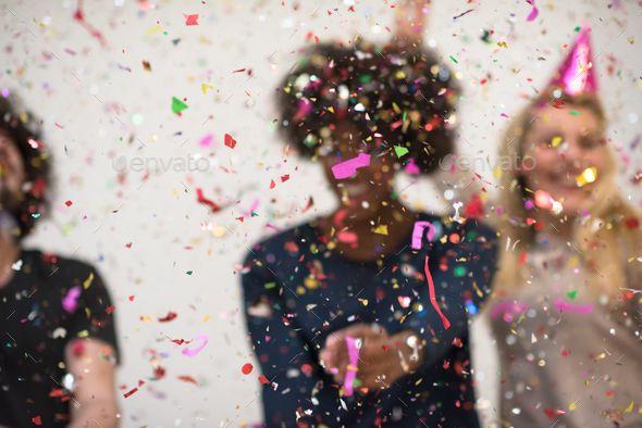 People Having Fun On Dance Floor At A Night Club Stock ...  |People Having Fun In A Club