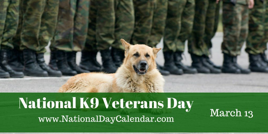 """[caption id=""""attachment_335188″ align=""""alignnone"""" width=""""490″] National K9 Veterans Day – March 13 (2)[/caption] NATIONAL K9 VETERANS DAY March 13th recogn…"""