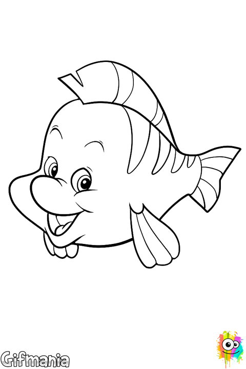 Flounder #flounder #thelittlemermaid #disney #drawing | Rock ...