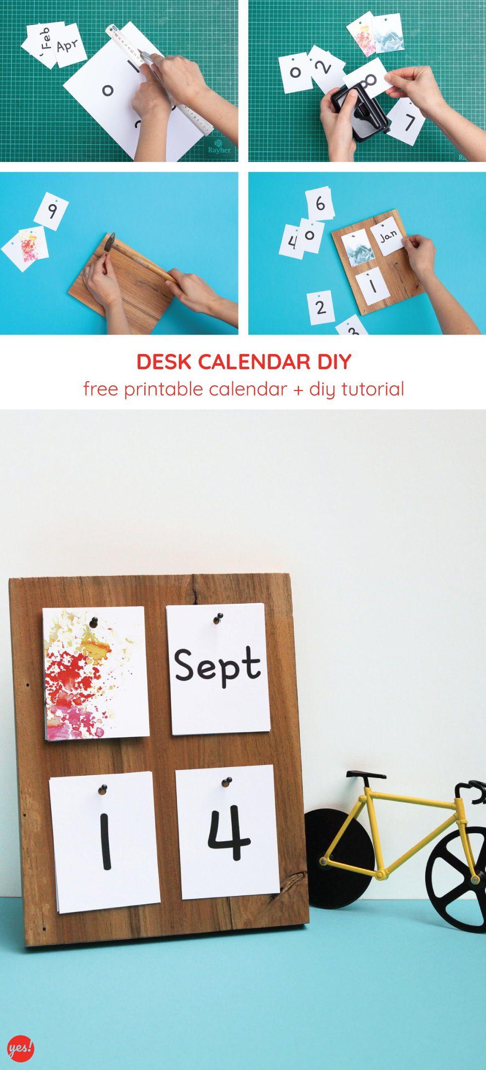 Diy Desk Calendar With A Free Calendar Printable Diy Desk