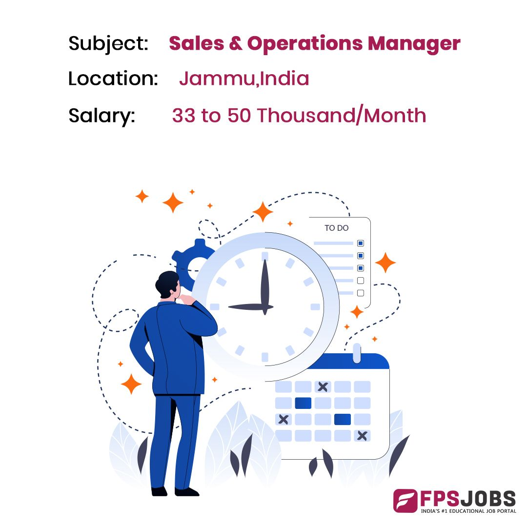 Sales Operation Manager Sales And Marketing Jobs Education Jobs Operations Management