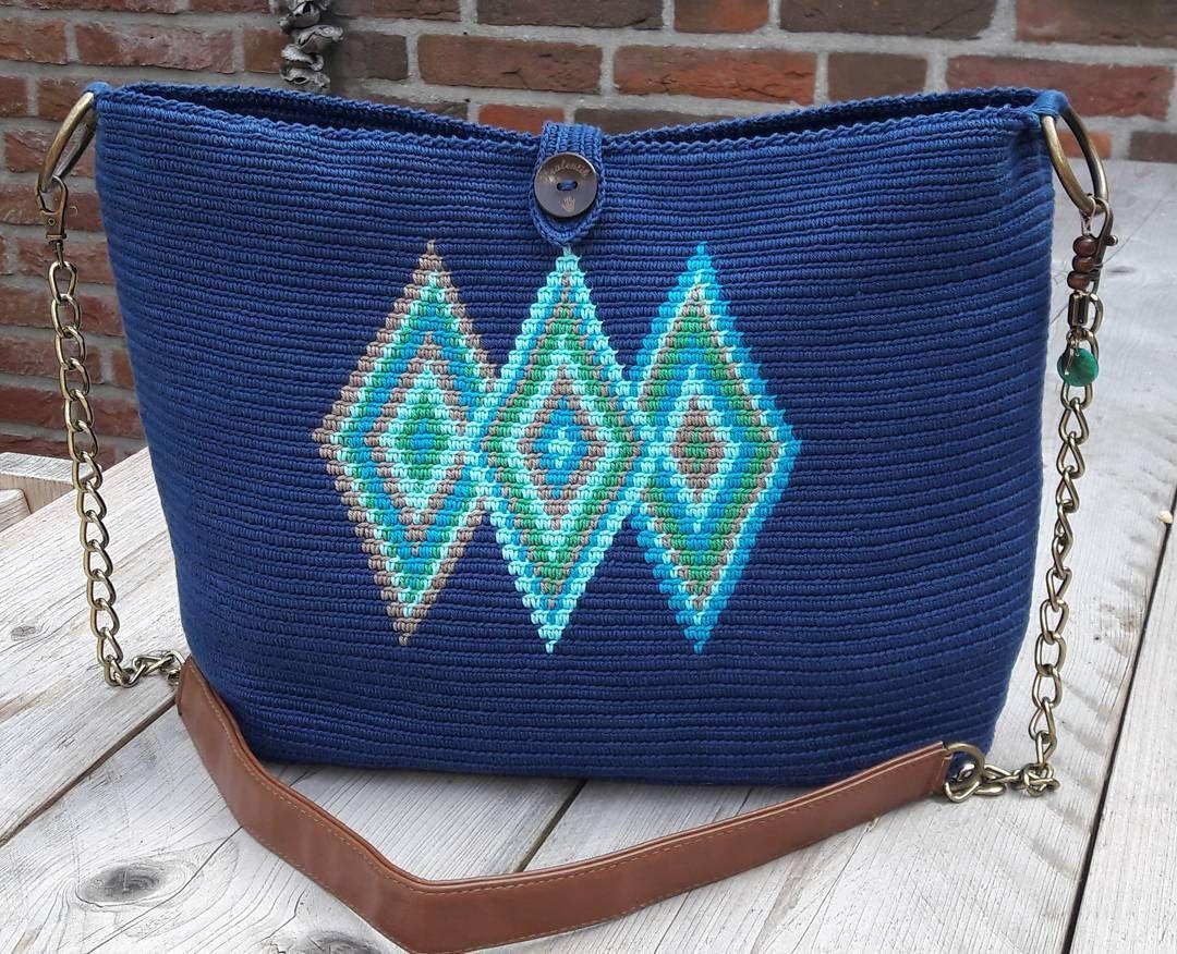 Mochila Crochet Kralentik Haken Tas Bag Ovale çanta Yapımı