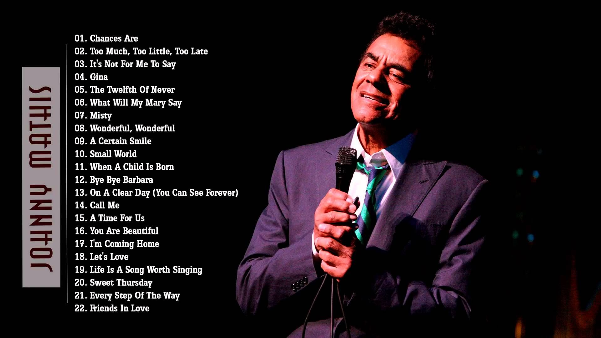 Gina (Johnny Mathis) All-Time Greatest Hits Vol. 2 LP.wmv |Johnny Mathis Greatest Hits Youtube