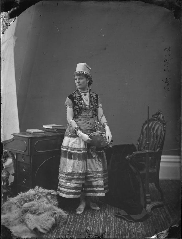 Jennet Scott in fancy dress, 1876