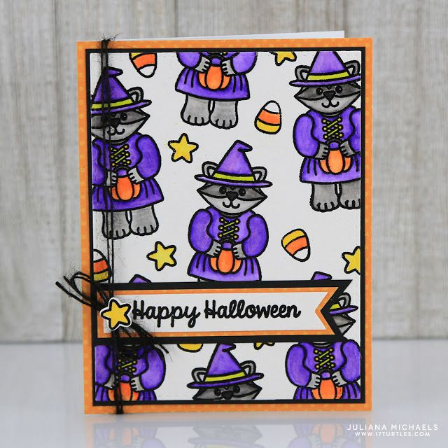 Heat Embossing and Watercoloring Halloween Card by Juliana Michaels - halloween michaels