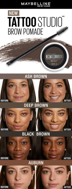 Get Your Most Natural Brow Look Yet With Maybelline S Tattoo Studio Brow Pomade This Waterproof Formula Does Not Smudge Brow Pomade Eyebrow Makeup Maybelline