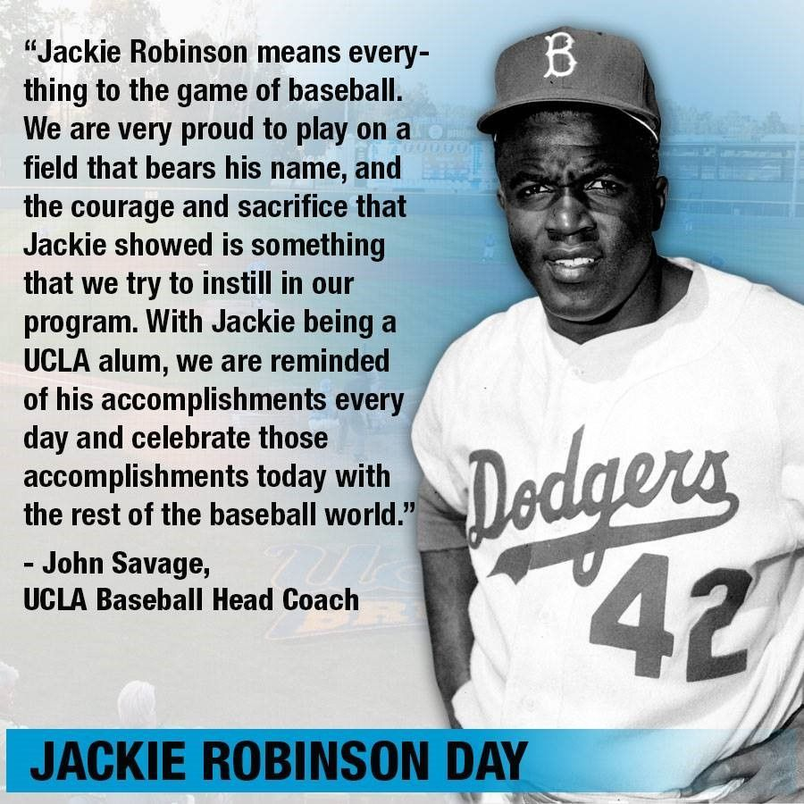 Jackie Robinson Day Honors The First African American To Play In Major League Baseball He Played For The Los An Jackie Robinson Jackie Robinson Project Jackie