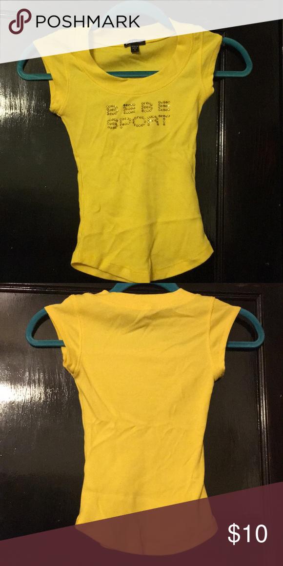 0e662ac5d77 Bright yellow Bebe sport shirt Empire yellow Bebe sport shirt bebe Tops Tees  - Short Sleeve