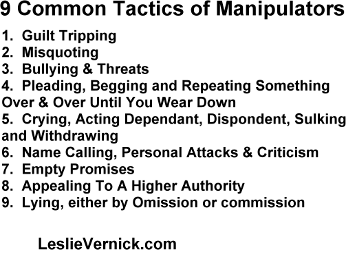 Narcissistic manipulation tactics