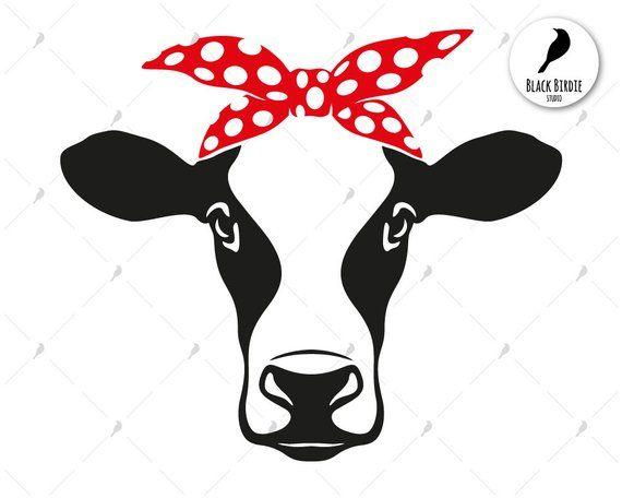 Cow Head Bandana Svg Cow Svg Cow Bandana Svg Farm Svg Heifer Svg Cow Clipart Cow Face Svg For Cricut Eps Dxf Png Pdf S Cow Drawing Cow Clipart Cow Face