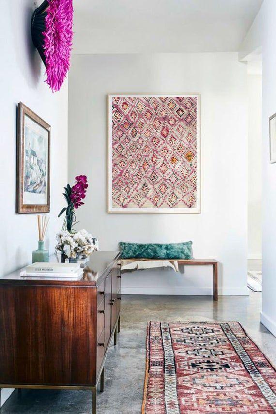 Eclectic Wall Art,Bohemian wall Art,Moroccan Rug,Boho Wall ... on Modern Boho Wall Decor  id=76727