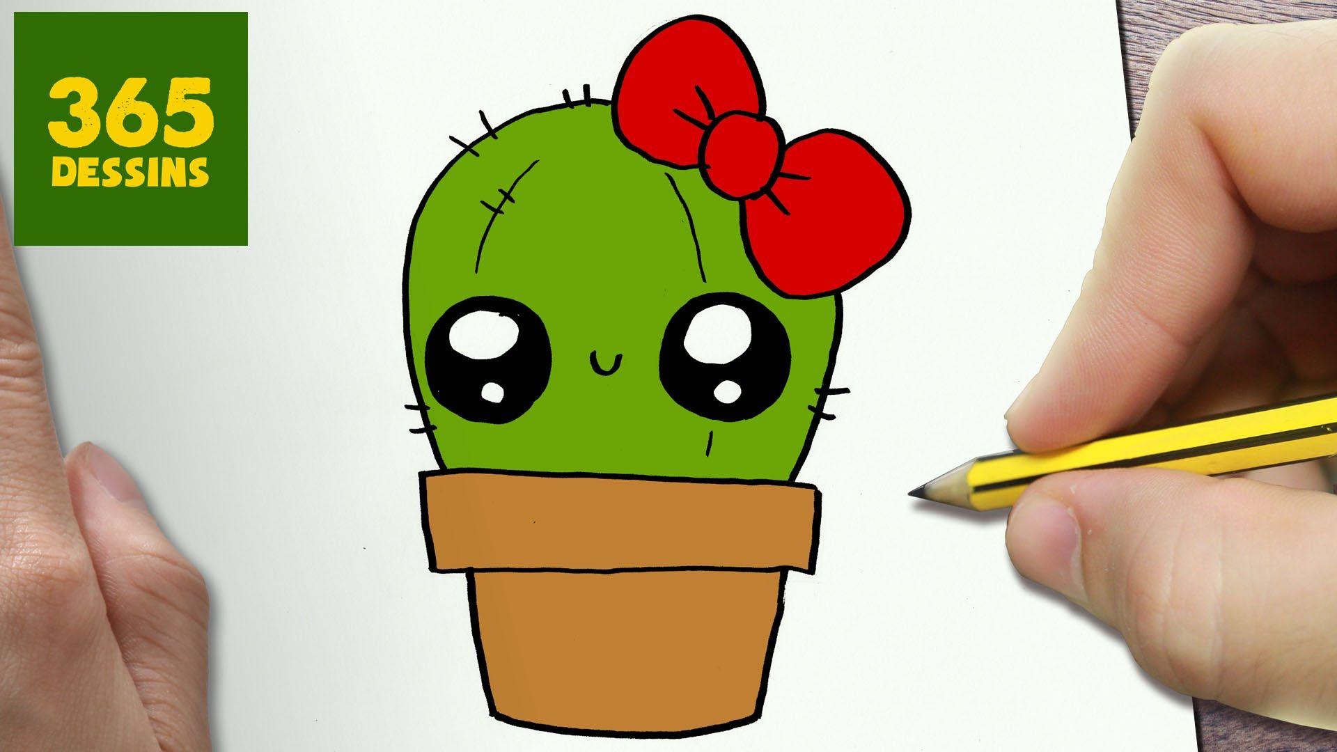 Comment Dessiner Cactus Kawaii Etape Par Etape Dessins Kawaii Dessin Kawaii 365 Dessins Kawaii