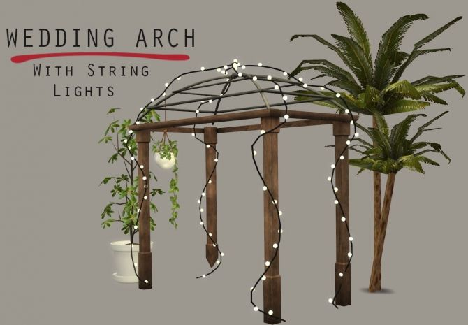 lighted wedding arch at leo sims sims 4 updates decor sims 4