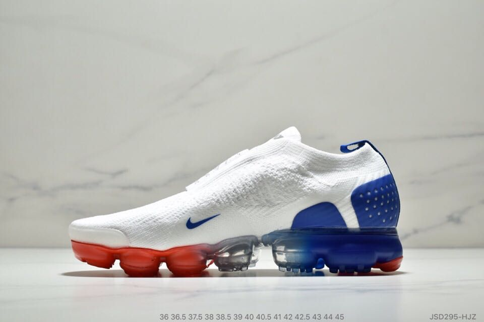 buy online 03e07 ae122 Nike Air VaporMax 2018 2.0 MOC Flyknit White Blue Red Women Men Shoes