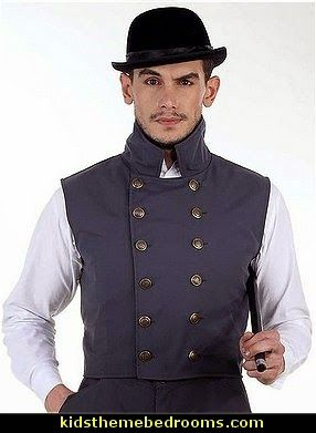 Steampunk Victorian Costume Herschel Grey Vest Jacket