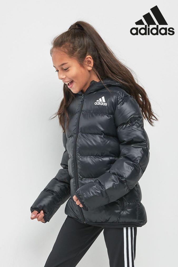 Girls adidas Black Jacket - Black