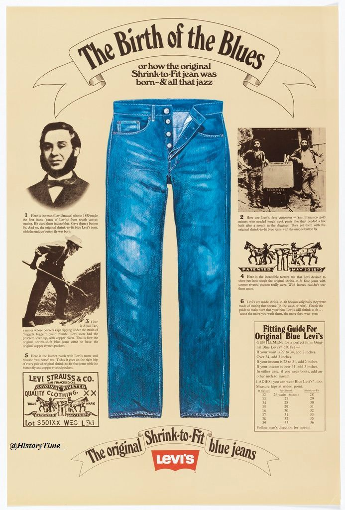 2302c8e21cb 6 June 1850 - Levi Strauss made his 1st pair of blue jeans  (@thekalewatcher) | Twitter