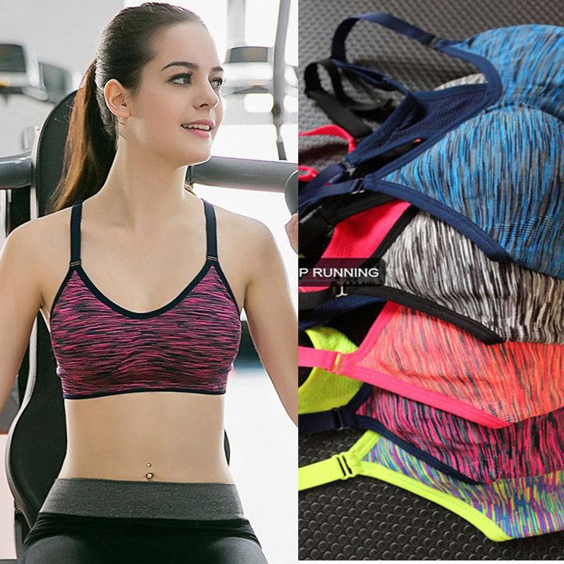 9e62a7e842733 Womens Seamless Yoga Bra Fitness Workout Tank Top Racerback Padded Sports  Bra