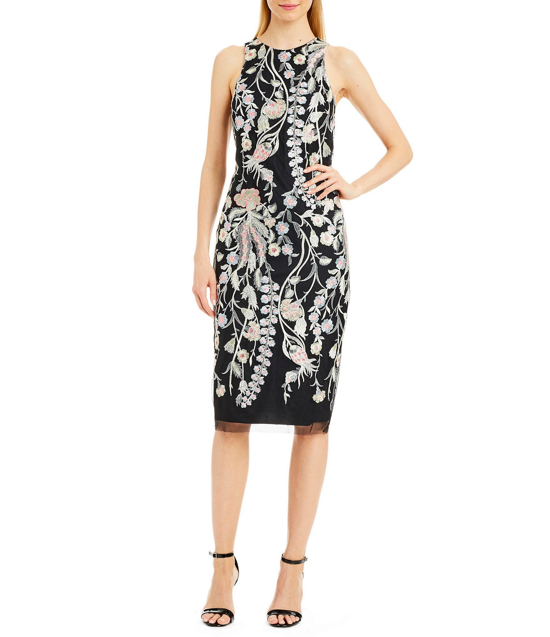 Nicole Miller New York Ed Embroidered Dress
