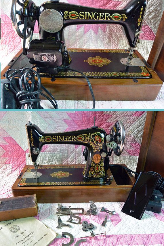 1916 Singer RED EYE Sewing Machine