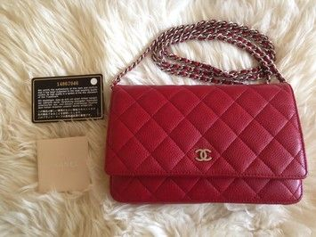 69ebc49dff48 Chanel Wallet on Chain With Shw Dark Red Caviar Leather Cross Body ...